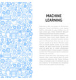machine learning line pattern concept vector image