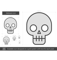 Malware line icon vector image vector image
