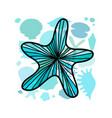 marine background ornate starfish for your design vector image vector image