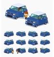 Modern blue hatchback vector image