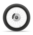 motorcycle wheel 03 vector image vector image