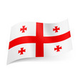 national flag of georgia central red cross with vector image vector image