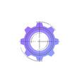 neon gear line icon vector image vector image