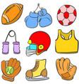 object sport equipment doodle art vector image vector image