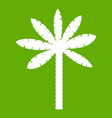 palm tree icon green vector image vector image