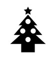 pine tree isolated icon vector image
