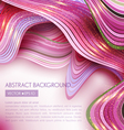 pink abstract background with waves vector image vector image