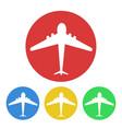 plane button tourism design stock vector image