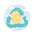 recycle bulb creativity environment ecology vector image