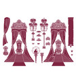 royal chair princess throne vector image