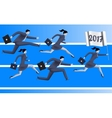 Running to year 2017 business concept vector image