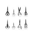 scissors silhouette vector image
