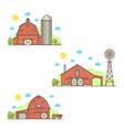 set american farm icon vector image