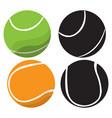 set of tennis ball vector image