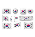 set south korea flags banners banners symbols vector image vector image