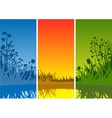 Small Lake and Grass vector image vector image