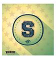 Sporty retro shabby letter S vector image