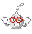 super hero wrecking ball hanging from chain vector image