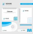 text document logo calendar template cd cover vector image vector image