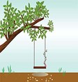 v Tree with a swing vector image