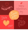 Valentines day hand-lettering labels vector image vector image