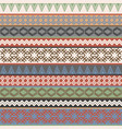 vintage ethnic geometric motifs background vector image vector image