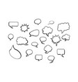 white comic speech bubbles on white background vector image vector image