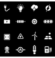 white electricity icon set vector image vector image