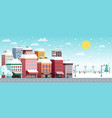 winter city horizontal banner vector image vector image