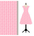 women dress fabric with pink pattern vector image vector image
