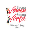 womens day template design vector image vector image