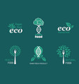 eco food icons vector image