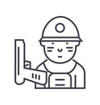 soldier line icon sign on vector image