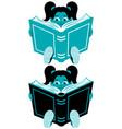 reading girl 2 vector image