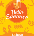 hello summer beach party poster background vector image