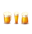 Set of Beer in glass and mug Realistic vector image
