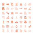 49 urban icons vector image vector image