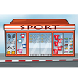 A sports store vector image