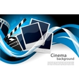 Background with cinema elements vector image vector image