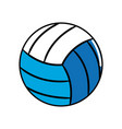 ball to play volleyball icon vector image vector image