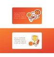 basketball sport basket-ball business card with vector image