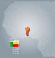 benin information map vector image