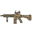 Big automatic gun vector image vector image