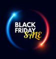 black friday sale design template with shining vector image
