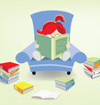 bookworm vector image vector image