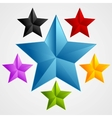 Bright abstract star design vector image vector image