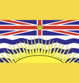 british columbia flag vector image vector image