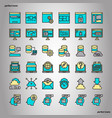 browser and interface color line icons perfect vector image vector image