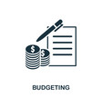 budgeting icon line style icon design from vector image vector image