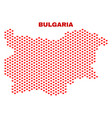 bulgaria map - mosaic of heart hearts vector image vector image
